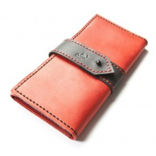 Шкіряний гаманець Bogz «Грейс» P31M39S6 червоний