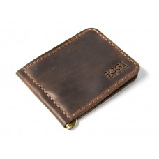 Зажим для денег Bogz обычный P34M7S3 коричневый