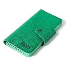 Шкіряний гаманець Bogz «Мадлен» P19M31S6 зелений