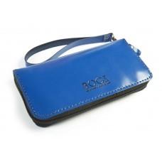 Шкіряне портмоне BOGZ «Multivision» P13M33S8 синє