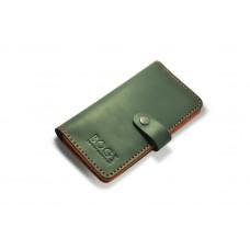 Гаманець шкіряний BOGZ Long на кнопці P14M5M36S1 чорний