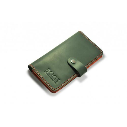 Кошелёк кожаный Long на кнопке P14M5M36S1