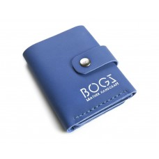 Кожаный кошелёк BOGZ «Ролл» P18M11S8 синий