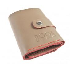 Кожаный кошелёк BOGZ «Ролл» P18M37S1 бежевый