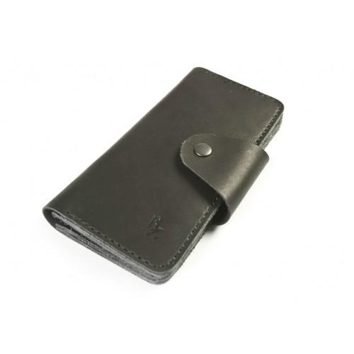 Шкіряний гаманець BOGZ «Мадлен» P19M5S6 чорний