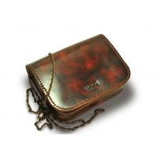Женская кожаная сумка на цепочке BOGZ «Шамира» P20M1S1 коричневая