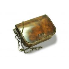 Женская кожаная сумка на цепочке BOGZ «Шамира» P20M2S2 коричневая