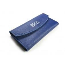 Кожаный кошелек BOGZ «Евника» P28M26S8 синий
