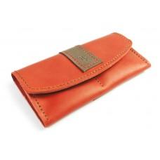 Шкіряний гаманець BOGZ «Оксі» P30M39S1 червоний