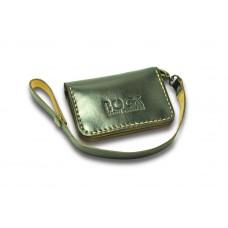 Кошелёк кожаный BOGZ «Winner» с карабином P5M3M6S2 коричневый