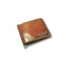 Зажим для денег кожаный BOGZ «Cosmos» P8M1M6S1 красный
