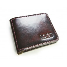 Зажим для денег кожаный BOGZ «Cosmos» P8M4M5S5 бордовый