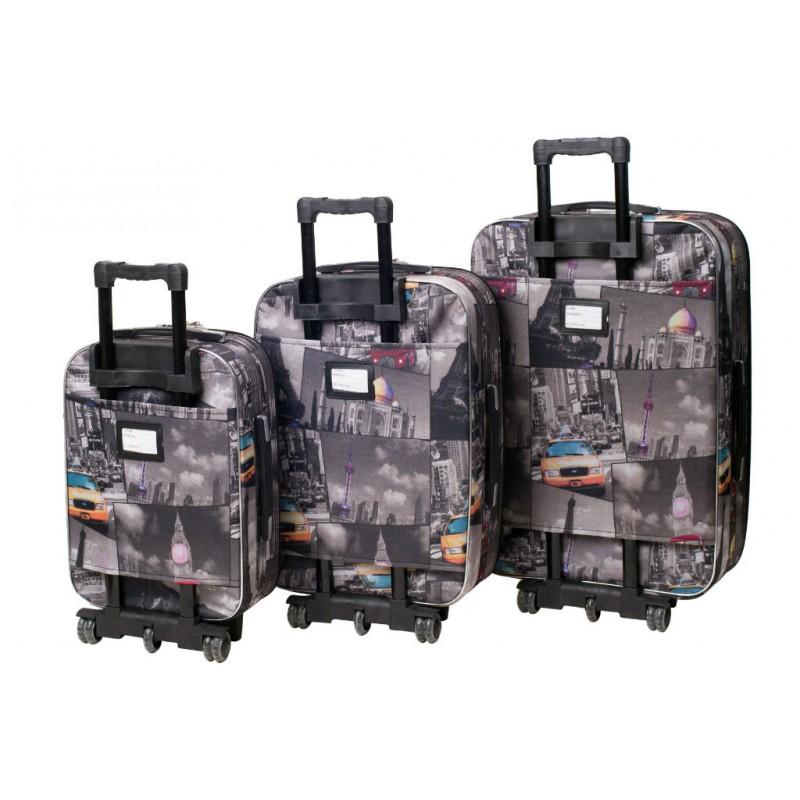 343239fdd62d Набор чемоданов Bonro Style 3 штуки City (110201) купить онлайн в ...