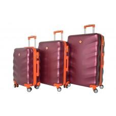 Набір валіз Borgo Next 3 штуки бордовий (110296)