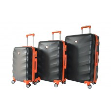Набір валіз Bonro Next 3 штуки чорний (110290)