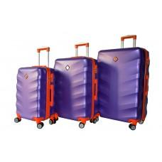 Набір валіз Bonro Next 3 штуки фіолетовий (110295)