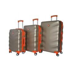 Набір валіз Bonro Next 3 штуки шампан (110292)