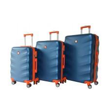 Набір валіз Bonro Next 3 штуки синій (110291)
