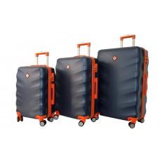Набір валіз Bonro Next 3 штуки темно-синій (110294)