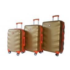 Набір валіз Bonro Next 3 штуки золотий (110293)