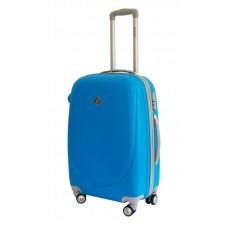 Валіза Bonro Smile велика з подвійними колесами блакитна (110105)