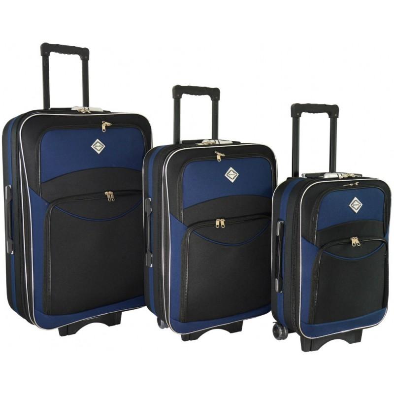 fdd02773ff03 Набор чемоданов Bonro Style 3 штуки черно-темно синий (110109 ...