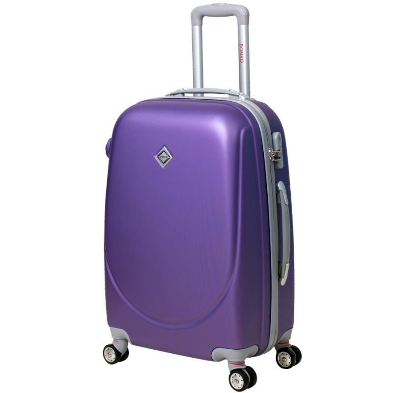 Чемодан Bonro Smile средний с двойными колесами фиолетовый (110096 ... 751a024c4f0