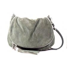 Женская замшевая сумка мессенджер B6L0-09 серая