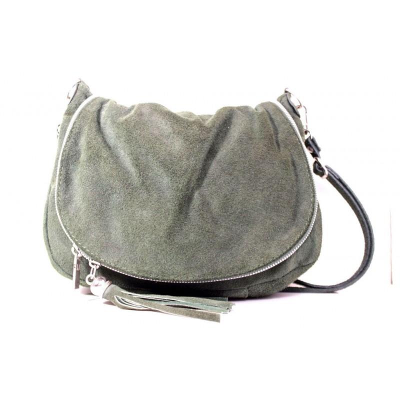 Жіноча замшева сумка месенджер B6L0-09 сіра Італія — купити недорого ... d345c8f70efeb