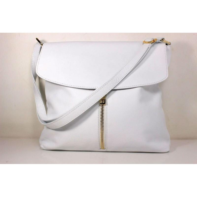 Жіноча шкіряна сумка BIZ0-005 біла Італія — купити недорого в ... 8189b69b0e6b2