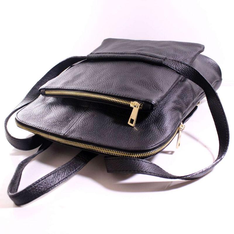 277a927840dd Женская кожаная сумка-рюкзак BIC0-101 черная Италия — купить ...