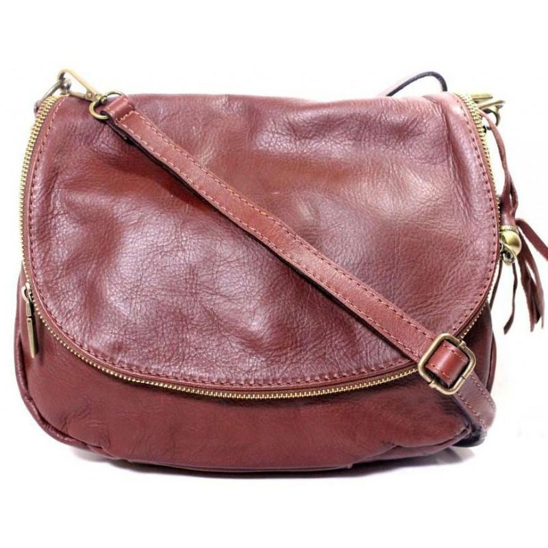 ad289b377e92 Женская кожаная сумка мессенджер BIL004 коричневая Италия — купить ...