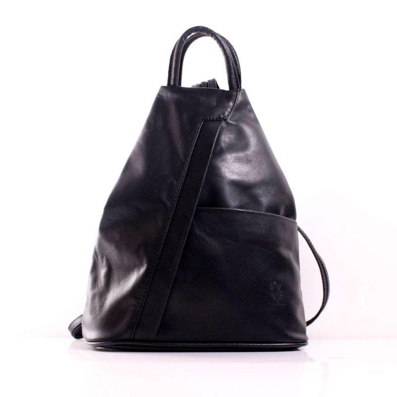 Жіноча шкіряна сумка-рюкзак BIC0-201 чорна Італія — купити недорого ... 308eee46c739c