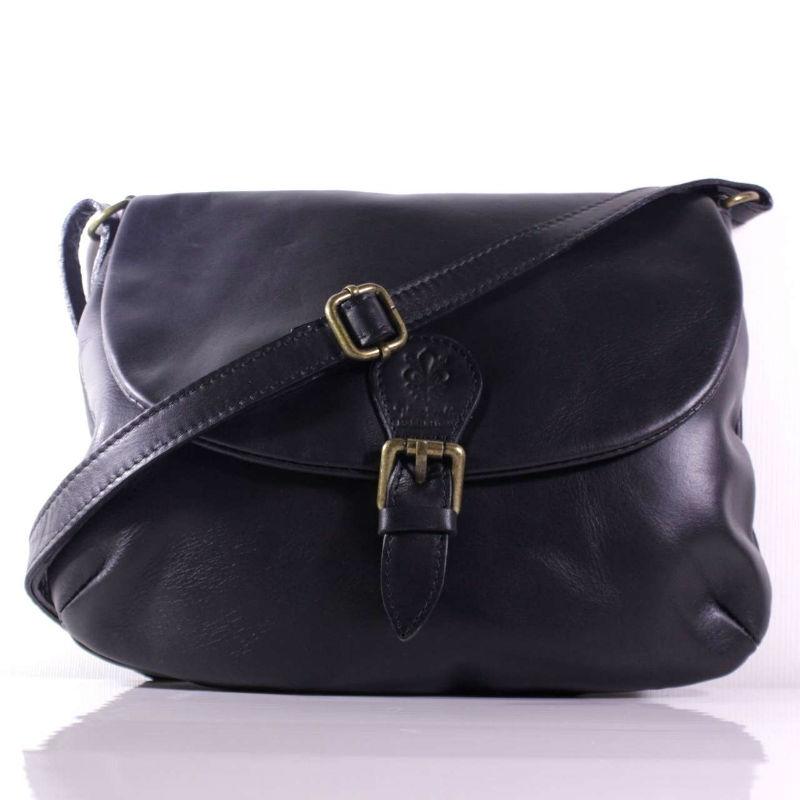 dc31748628c5 Женская кожаная сумка почтальонка BIL0-101 черная Италия — купить ...