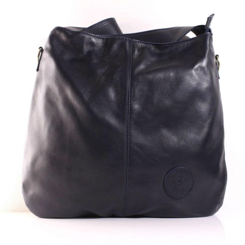 Женская кожаная сумка мешок BIU0-008 синяя Италия — купить недорого ... 2e959ded53c