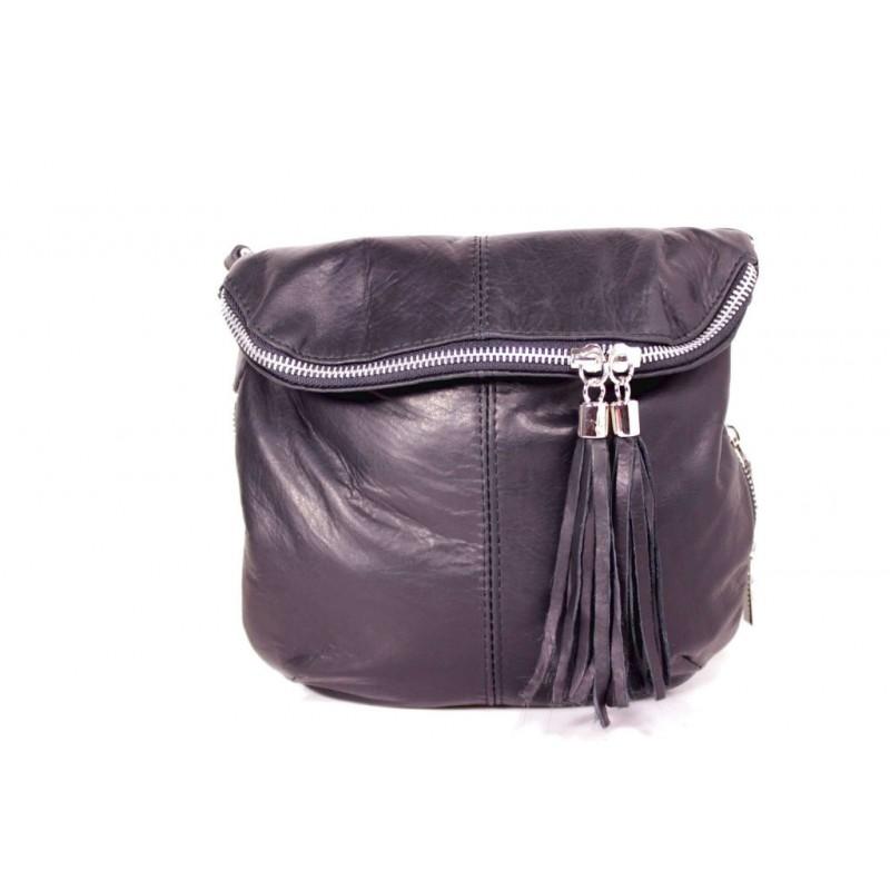 Жіноча шкіряна сумка через плече MIK0-L01 чорна Італія — купити ... 7712735deb2fd