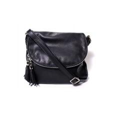 Женская кожаная сумка мессенджер BIM001 черная