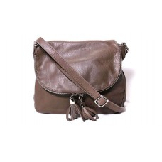 Женская кожаная сумка мессенджер BIM003 коричневая