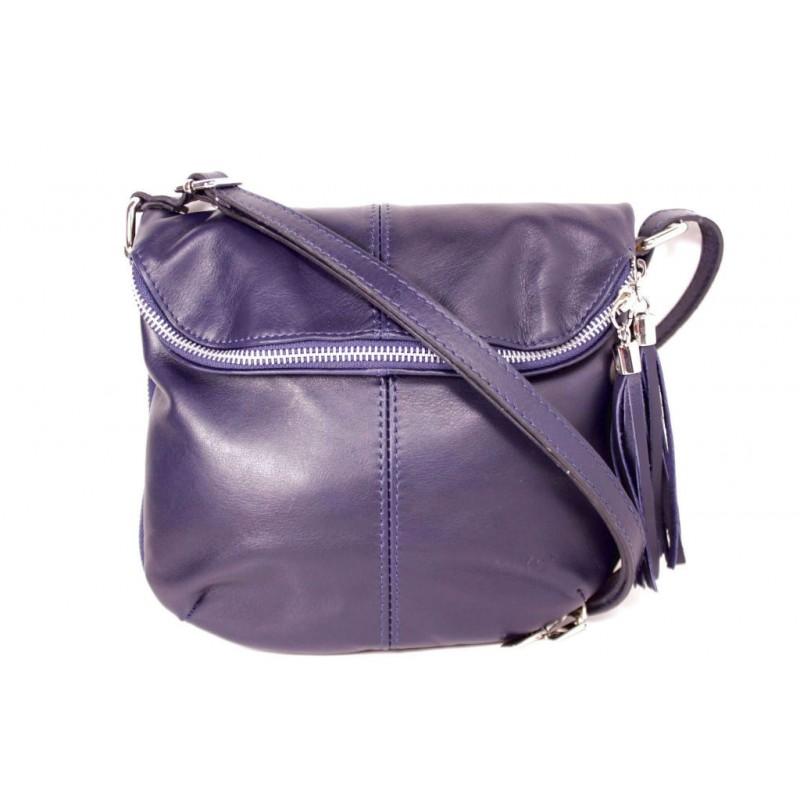 db4c8d57d9be Женская кожаная сумка через плечо MIK0-L08 синяя Италия — купить ...