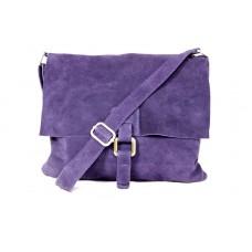 Женская замшевая сумка почтальонка B600-08 фиолетовая