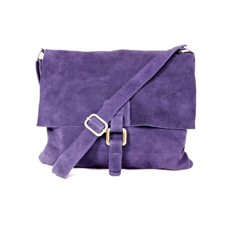 Женская замшевая сумка почтальонка B600-08 фиолетовая Италия ... 6507a5aa130