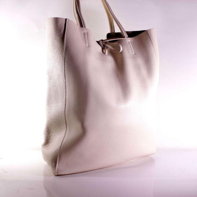 3d3573e85c58 Женская кожаная сумка шоппер BIJ0-306 бежевая Италия — купить ...