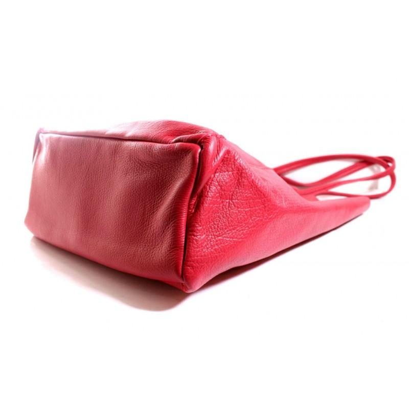 5b7e3ca7619c Женская кожаная сумка шоппер BIJ0-307 красная Италия — купить ...