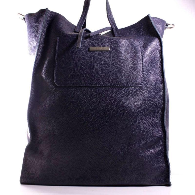 Женская кожаная сумка шоппер BIJ0-708 черная Италия — купить ... ad208bd3c21