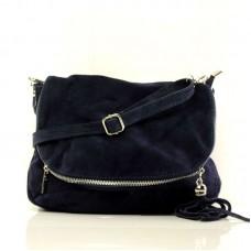 Женская замшевая сумка через плечо B6L008 синяя
