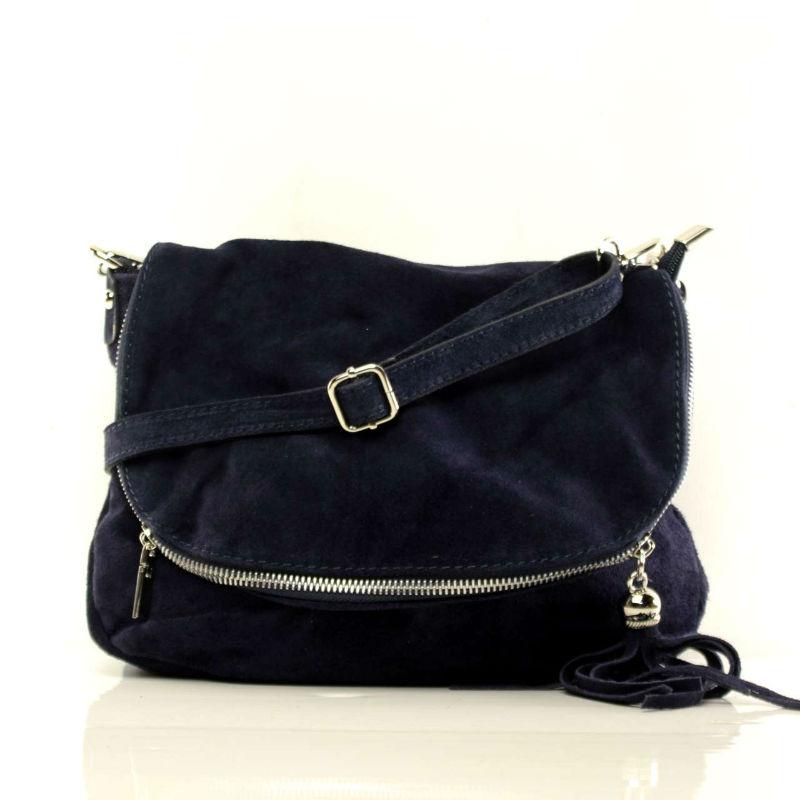 Жіноча замшева сумка через плече B6L008 синя Італія — купити ... 97398e316fa6d