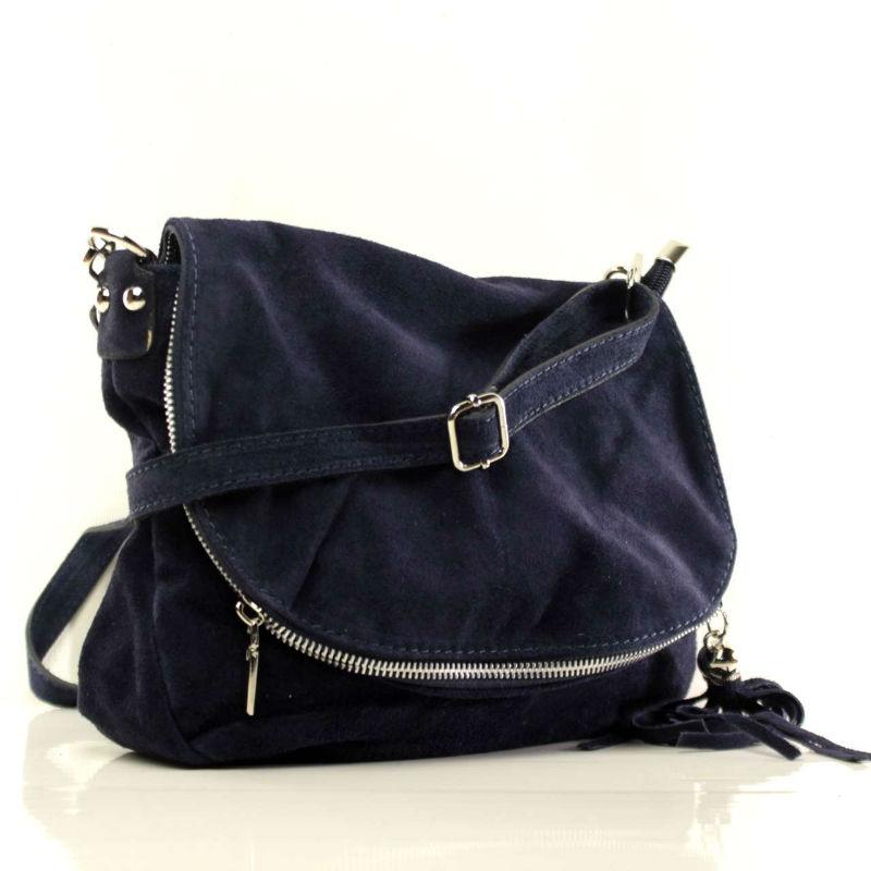 Жіноча замшева сумка через плече B6L008 синя Італія — купити ... 2533de35bd026