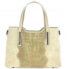 Кожаная женская сумка Bottega Carele BC1032-taupe бежевая