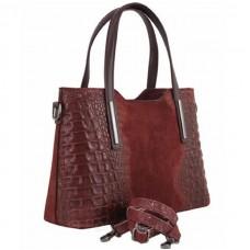 Кожаная женская сумка Bottega Carele BC1032-dark-gray темно-серая