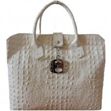 Кожаная женская сумка Bottega Carele BC127-beige бежевая